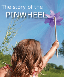 Pinwheel Story image - girl with purple pinwheel