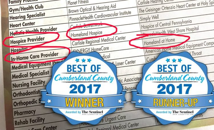 Homeland At Home Best of Cumberland County 2017