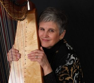 Music Heals - Cass Jendzurski with a harp