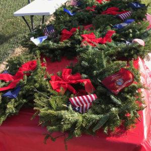 Wreaths created by Homeland Hospice volunteers