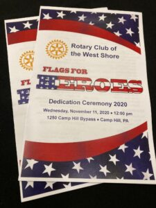 Flags for Heroes Flyer by Rotary Club West Shore