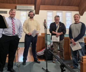 Chaplains and pastors recording CD for Homeland Hospice