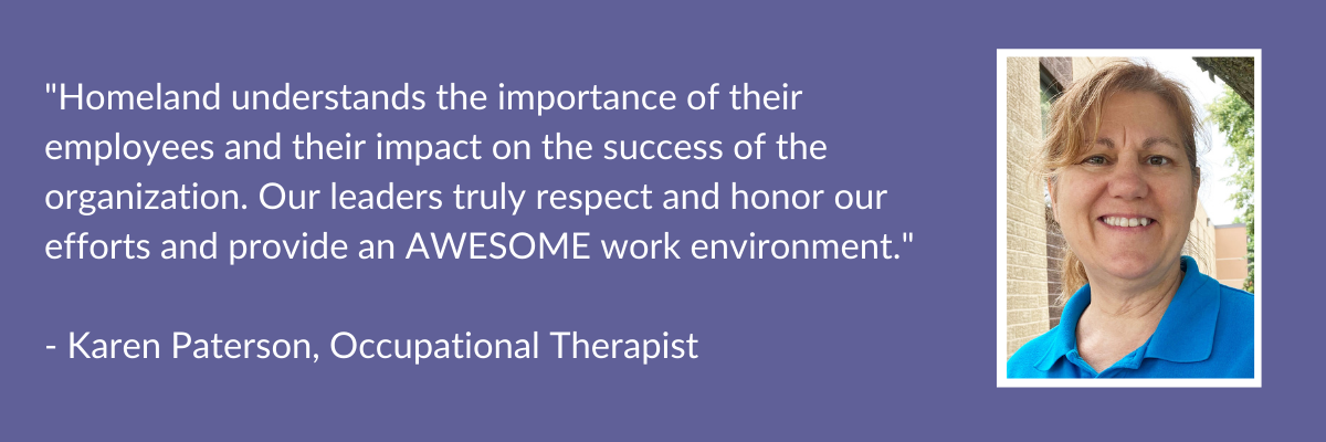 Testimonial from Karen Paterson, Occupational Therapist
